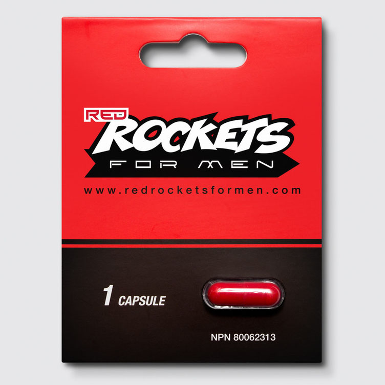 Red Rockets For Men Natual Herbal Male Enhancement Capsule Front